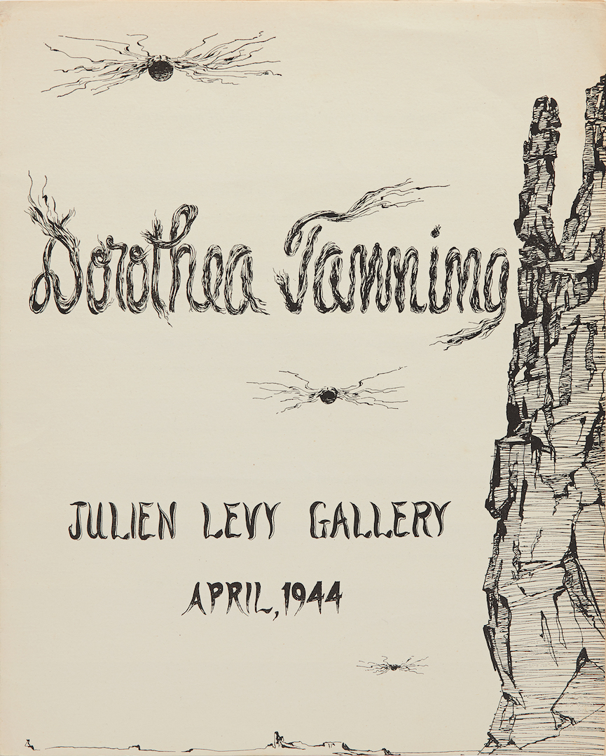 "Cover for the brochure for the exhibition ""Dorothea Tanning,"" Julien Levy Gallery, New York, 1944"