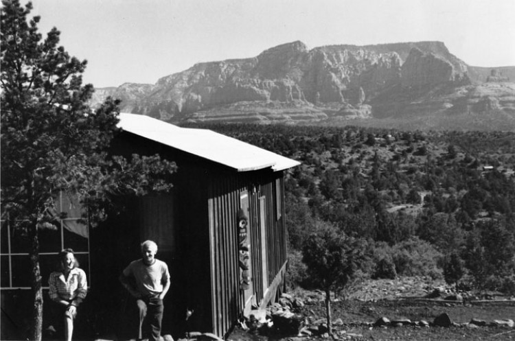Dorothea Tanning And Max Ernst In Sedona Arizona