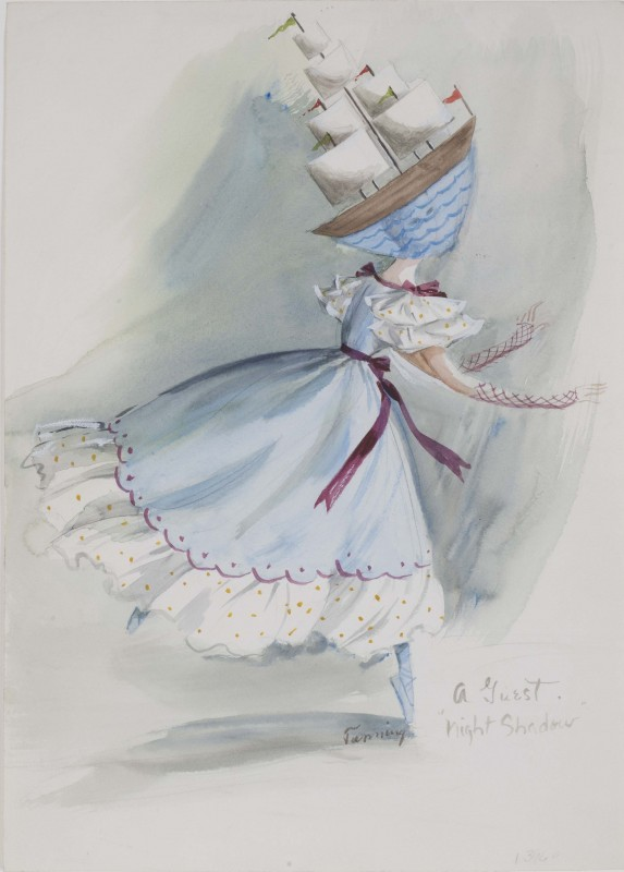 <i>A Guest, </i>costume design for<i> The Night Shadow</i>, a ballet by George Balanchine<i> </i>