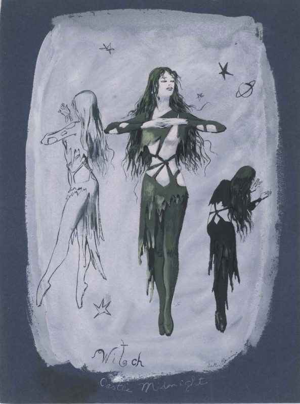 <i>Castle Midnight, </i>costume design for <i>The Witch</i>, a ballet by John Cranko
