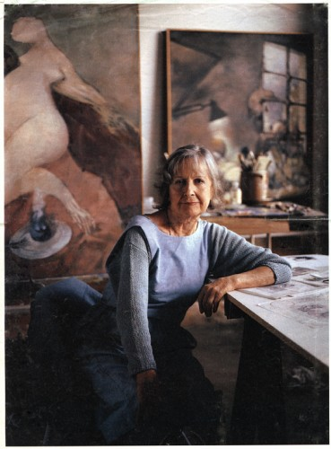 Dorothea Tanning in her studio, New York