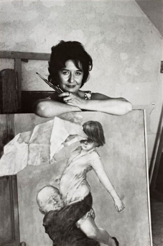 Dorothea Tanning in her studio, Huismes, France